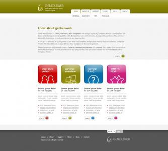 宽屏国外网站英文网站模板免费下载