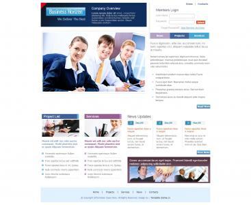 国外服务型网站静态模板免费下载