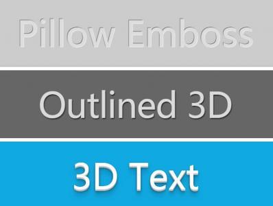 多款CSS排版文字阴影3D折叠样式代码网页文字特效代码