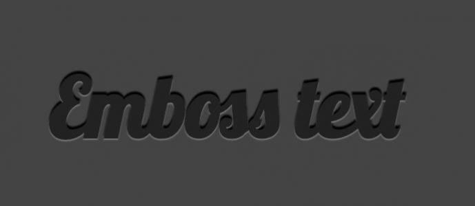 js代码制作3D浮雕文字效果css3样式代码网页文字特效代码