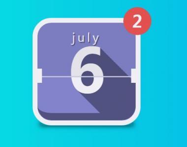 css3圆角代码绘制带文字阴影效果的日历icon图标手机APP图标下载
