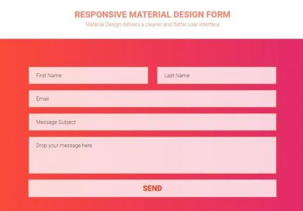 html布局大气红色背景的响应式form联系表单样式代码网页表单素材设计