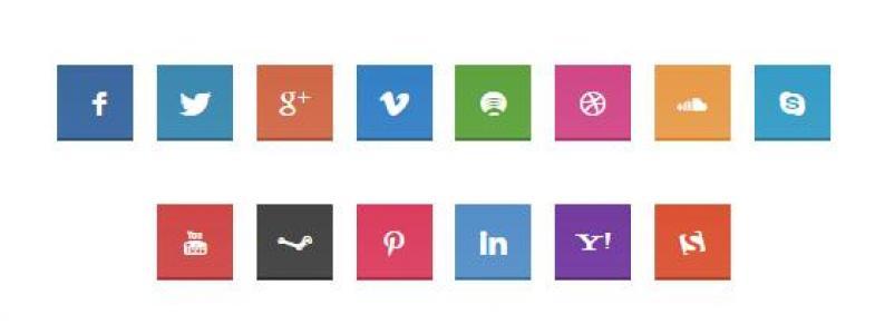 SCSS设计社交平面图标海量网站图标素材免费下载