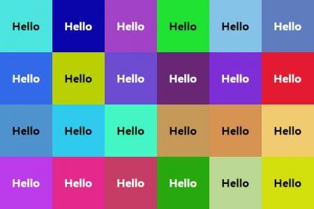 html网页九宫格布局根据背景自动选择最易读的文字颜色网页布局代码