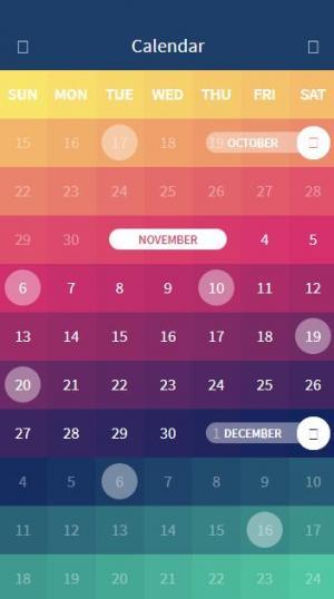 html5与css3设计制作五颜六色的日历概念网站素材特效网页样式代码