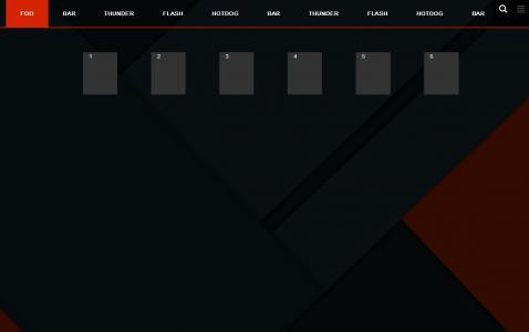 css3设计触摸滑动标签鼠标点击导航菜单实现滑块左右切换动画效果