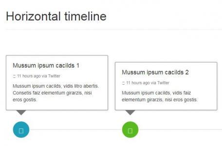 html站长素材设计与制作水平和垂直自举时间轴css3网页时间轴样式代码