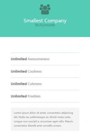 JavaScript特效代码与css3设计制作大气简洁的网页定价表单html网页设计与制作教程下载