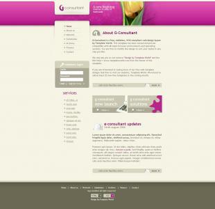 网站模板素材下载HTML5设计玫瑰通屏大气简洁企业网页模板