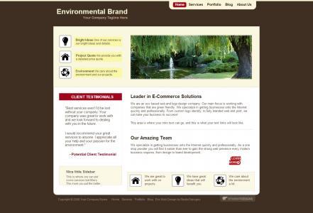 网页模板制作HTML5和CSS3设计欧美风格传统企业网站模板