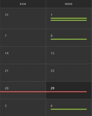 html5和css3设计制作个性响应式日历表样式代码html标签网页表格布局代码