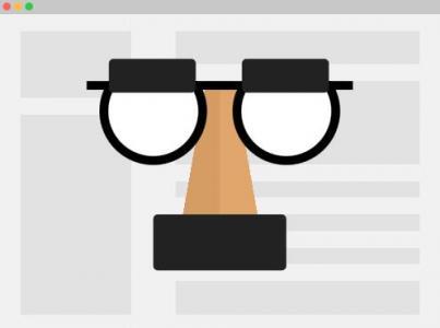 html5和css3制作带简单网页板块布局的隐身浏览器面具图标样式代码