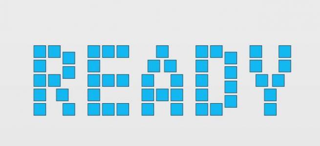 纯css3设计制作小方块滑动旋转组成3D字母动画效果网页3D素材免费下载