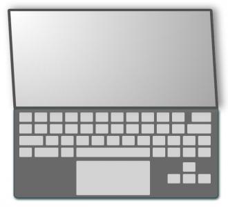 css3样式表绘制带阴影效果的3D笔记本电脑素描样式代码html网页3D素材下载