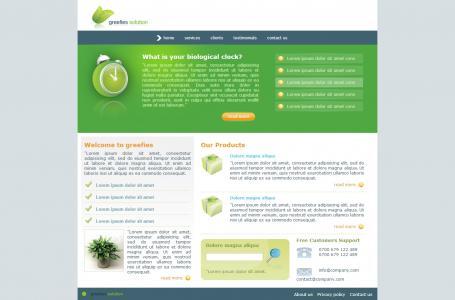 绿色环保型简约模板网站