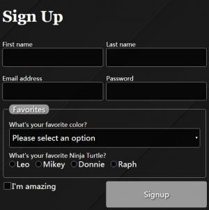 HTML5 CSS3制作黑色条纹背景风格的用户登录表单form表单素材设计与制作代码