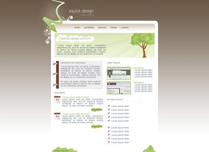 模板网站大全设计制作小清晰简洁的绿色环保公司网站模板