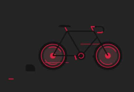 纯css3样式表制作正在行驶的卡通自行车动画效果网站动画素材免费下载