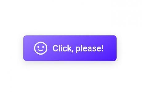 鼠标悬停CSS3按钮icon笑脸图标切换动画效果网页按钮素材下载
