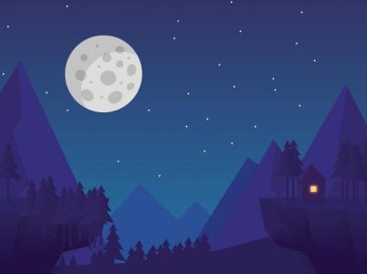 html与css样式表设计制作卡通夜间流星划过场景动画效果css3图像特效代码