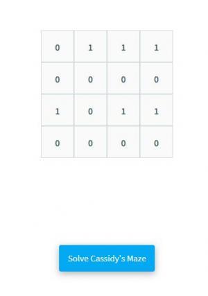 HTML网页九宫格布局卡西迪的迷宫使用回溯图形样式代码