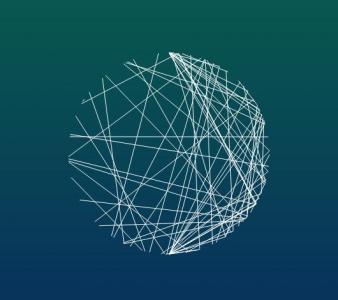 纯css3属性样式表绘制线条形成3D圆形图像网页几何图形设计与制作
