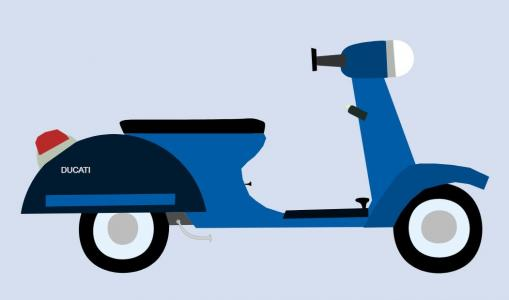 css3样式表制作制作简单卡通摩托图像效果html网站素材设计大全