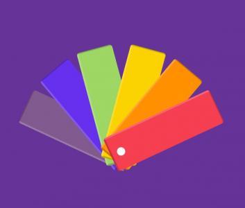 HTML标签代码设计带有纯CSS动画的调色板展开收缩切换效果网页拾色器素材下载