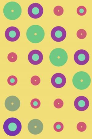 css3绘制一组不同色彩的圆形脉冲式动画效果网页特效代码