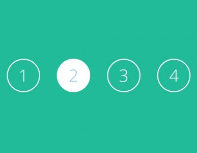HTML CSS3制作带弹性式圆形按钮鼠标点击按钮切换动画效果