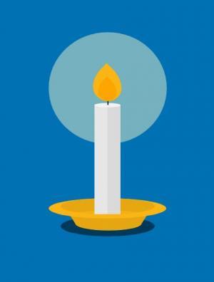 HTML CSS3设计制作网页卡通烛光灯光缩放效果HTML网页动画代码