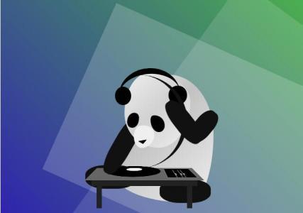 纯CSS3制作卡通熊猫正在打碟场景效果HTML网页动画代码