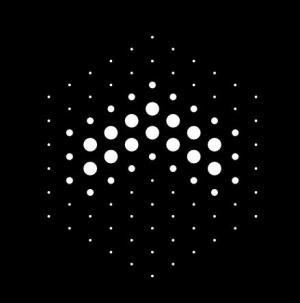 canvas画布代码实现不同大小圆点绘制成图案图像动画效果