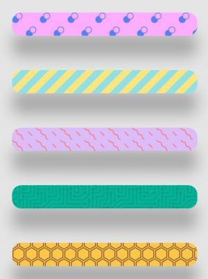 网页进度条素材设计与制作CSS3代码绘制多款带动画效果的色彩条形进度条