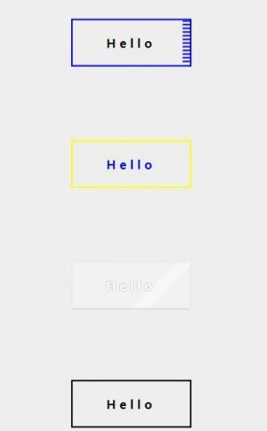 CSS3选择器属性样式制作4款鼠标悬停显示不同状态效果的平面按钮