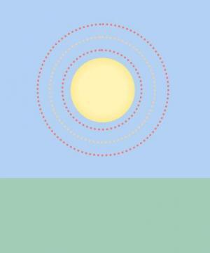 纯css3模拟制作卡通太阳发光后光波色彩切换动画效果