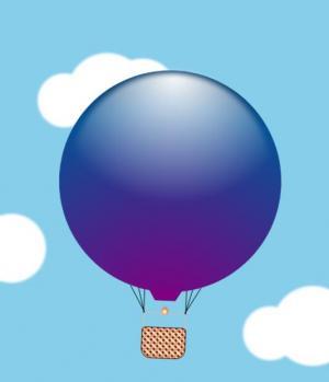 网站动画素材下载CSS3制作热气球在天空中飞行动画效果