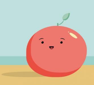 鼠标点击色块设置番茄色彩效果网页卡通图像素材大全