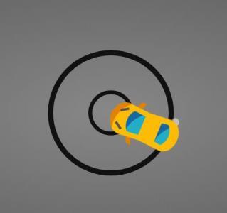 CSS3动画素材设计与制作小车在加速旋转行驶动画效果