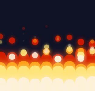 jQuery网站特效设计与制作超级炫酷的火焰背景动画效果