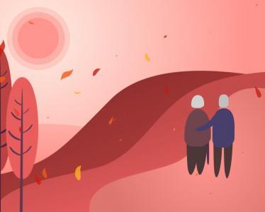 HTML5网页设计与制作SVG老人温馨场景卡通图像网站素材下载