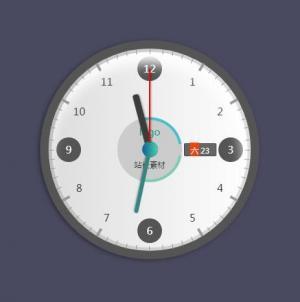 网页时钟设计素材jQuery特效代码制作带日期跟星期的时钟