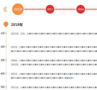 HTML网页静态页面设计jQuery企业发展大事件时间轴代码