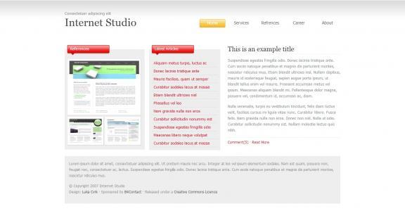 简洁清晰服务型的企业网站模板海量企业网站模板免费下载