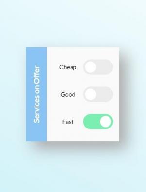 网站checkbox开关切换按钮设计HTML与CSS3美化复选框按钮