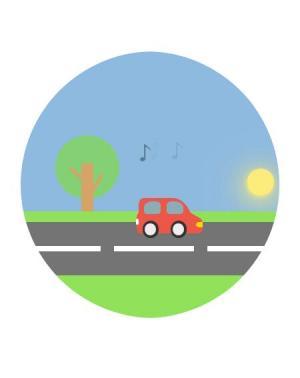 网页卡通动画素材大全CSS3制作小车行驶卡通动画效果