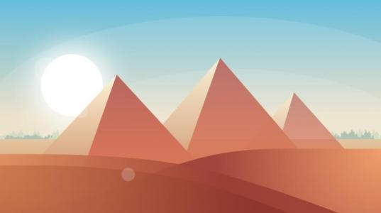 jquery与网页样式表动画代码绘制金字塔图形图像日出动画效果