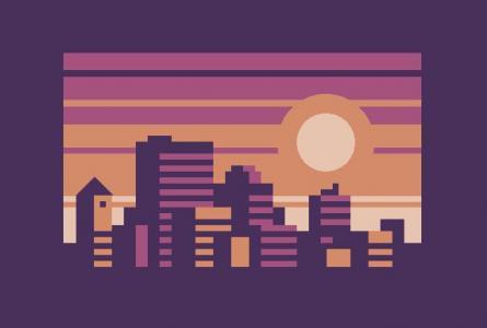 网页卡通图像代码HTML5与CSS3样式表制作城市卡通图形图像