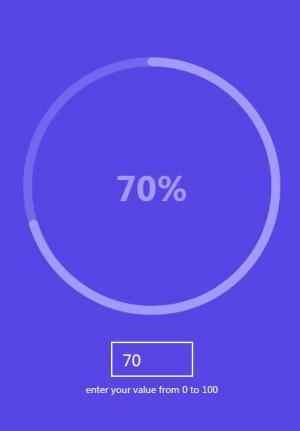 网页特效代码JavaScript制作带百分比圆形进度条加载效果