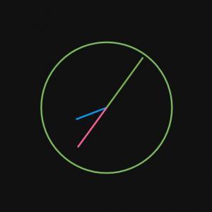 js网页时钟代码免费下载CSS3样式代码绘制简单的SVG圆形时钟